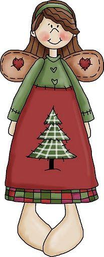 #angelo natalizio#modello da stampare/  ANGELITOS - Tita K - Picasa Web Albums