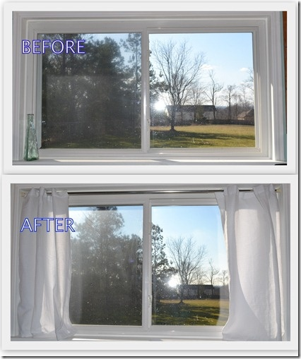 Turn Window Shower : Turn a shower curtain into window diy