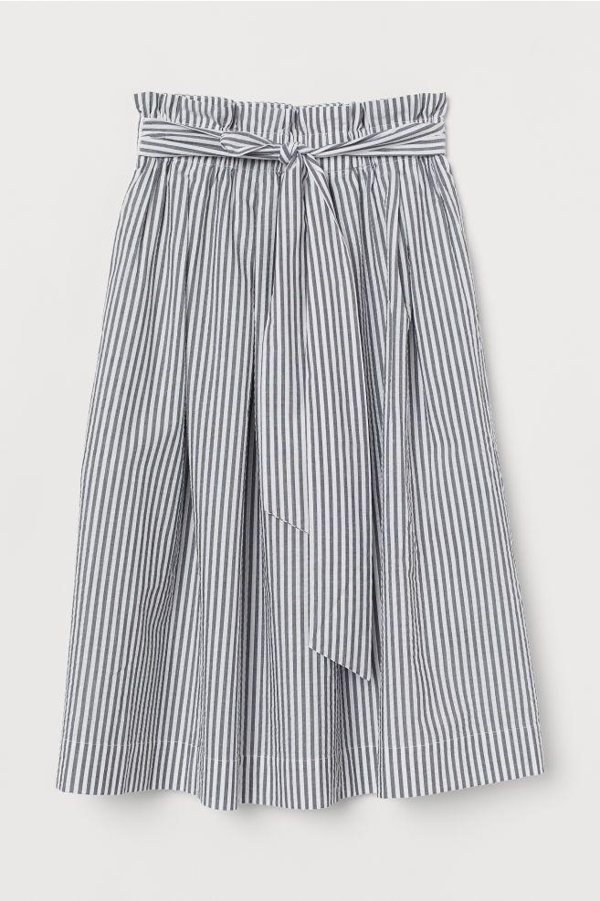 27284862012adb H&M Seersucker Skirt - Black in 2019   fashion   Seersucker skirt ...