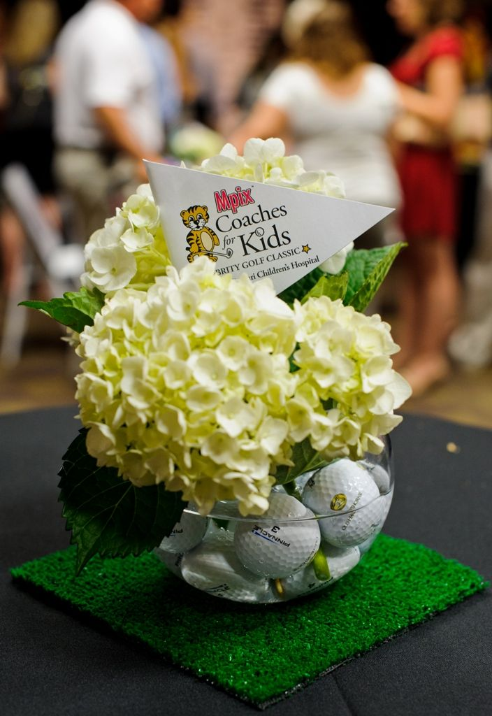 1000 images about centerpieces on pinterest golf for Golf centerpiece ideas