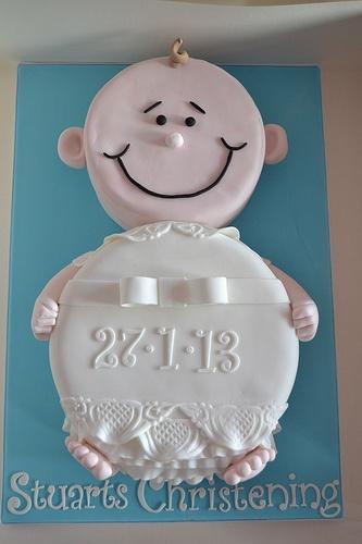 Stuart's baby Christening cake