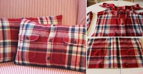 Cómo+hacer+una+funda+para+almohadas+con+una+camisa+reciclada