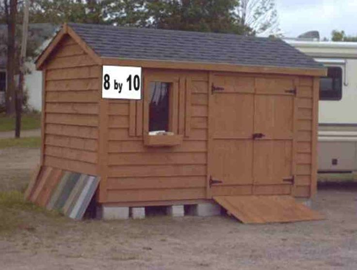 tractor utility shed 8 x 10 building plan