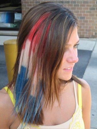 ALL AMERICAN Patriot 10 Patriotic American Pride Hair Extensions Liberty Red White Blue Hair Veterans Day Memorial Day Hair Sexy Uncle Sam