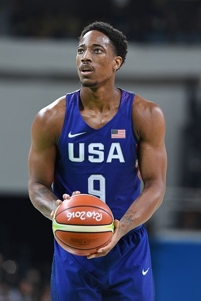 #RIO2016 Best of Day 1 - DeMar DeRozan of the USA Basketball Men's National Team shoots a free throw against China on Day 1 of the Rio 2016 Olympic Games at Carioca Arena 1...