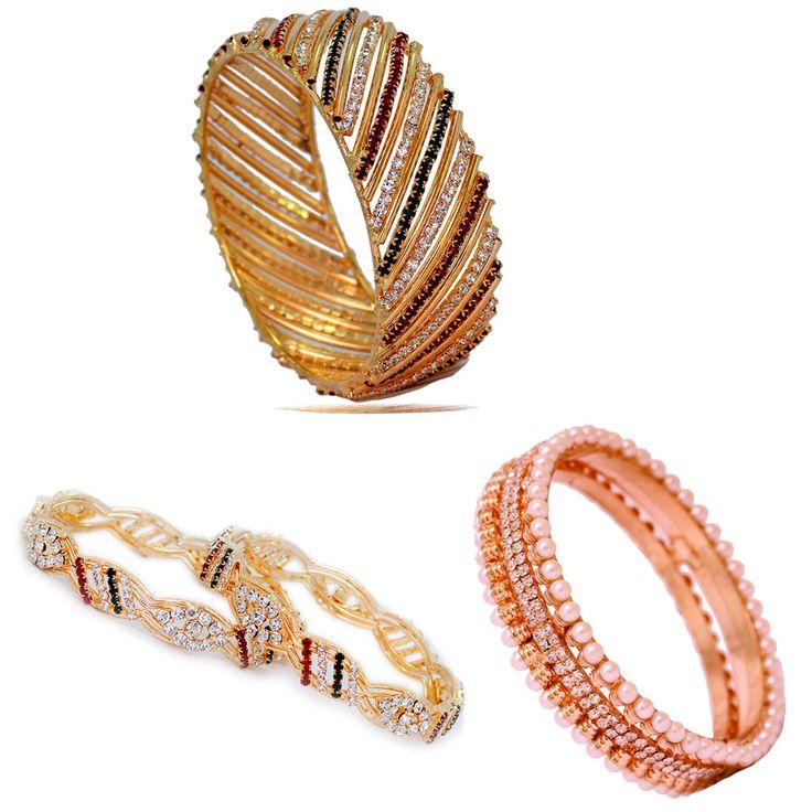 Special Combo Of 3 Gold Plated Designer Crystal Bangles For Girls/Women Size 2.8, joyería en línea, joyería en línea, joyería en línea de la manera, joyería india en línea, bisutería al por mayor en línea, joyería en línea, joyería en línea, joyería en línea, joyería en línea, joyería artificial en línea, joyería artificial en línea, joyería en línea, moda joyería en línea, joyería de moda en línea, joyería de moda en línea, joyería de moda en línea, joyas de moda en línea, joyería de moda…