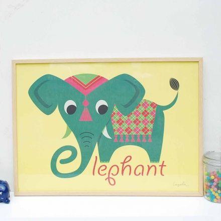 Affiche Éléphant d'Ingela P Arrhénius - La Folle Adresse