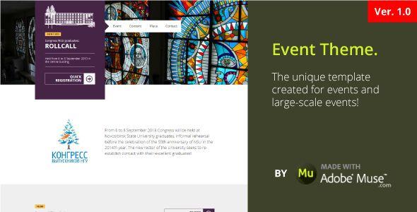Event | Flat Unique Theme - Corporate Muse Templates