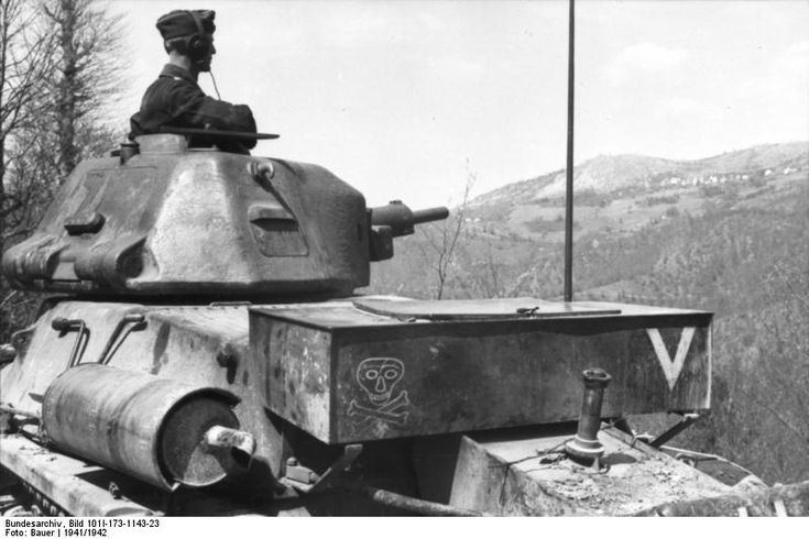 French tank in German hands.