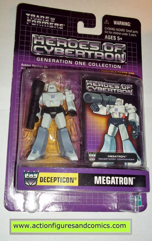 Transformers pvc MEGATRON heroes of cybertron hoc hasbro toys action figures moc mip mib