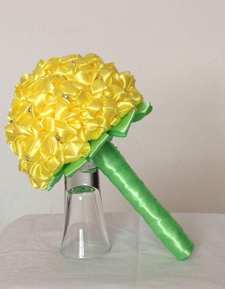 Dekorácie - Žltá látková kytica - 6261417_