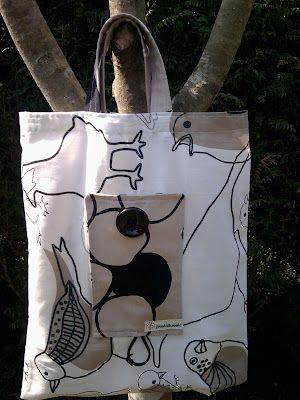 PANDIELLEANDO: TuToriaL: Eco Bag  Bossa de la compra plegable