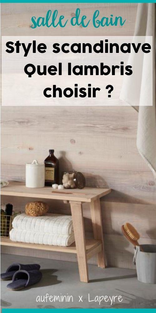 Parfait Et Si Vous Optiez Pour Du Lambris Dans Votre Salle De Bain ? Chez Lapeyre,