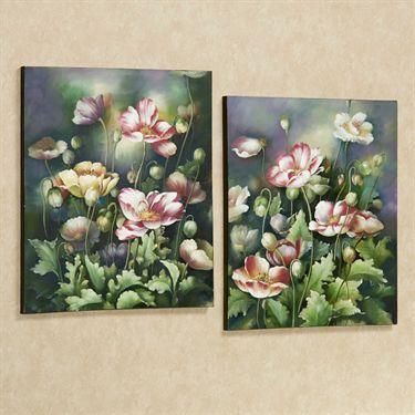 Blooming Vibrancy Floral Canvas Wall Art Set