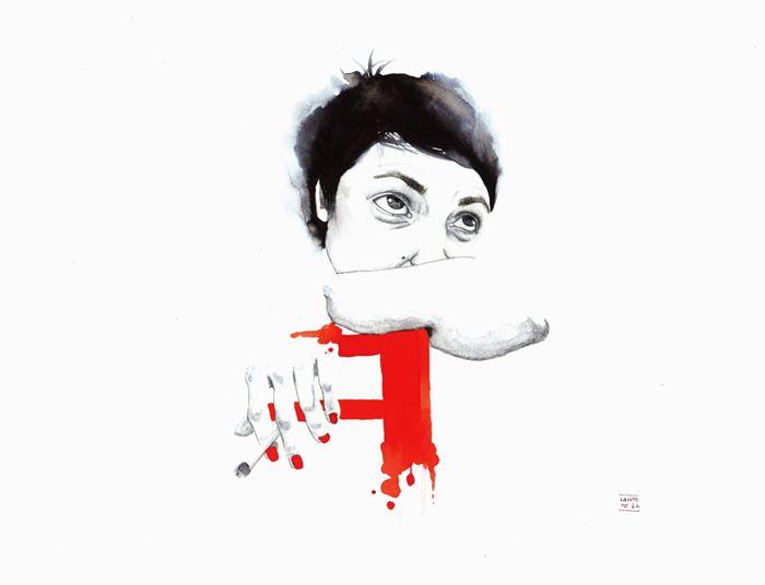 Antonella Montes Illustrations FUMANDO ESPERO RED grid