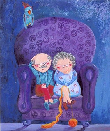 """Kleuter1 - Klasblog - Het reuzenhuis: brainstormen over """"grootouders"""""""