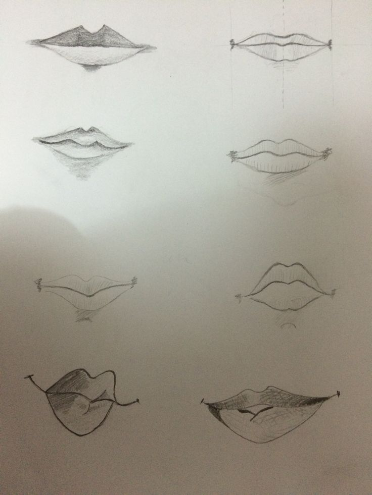 Easy lip drawing
