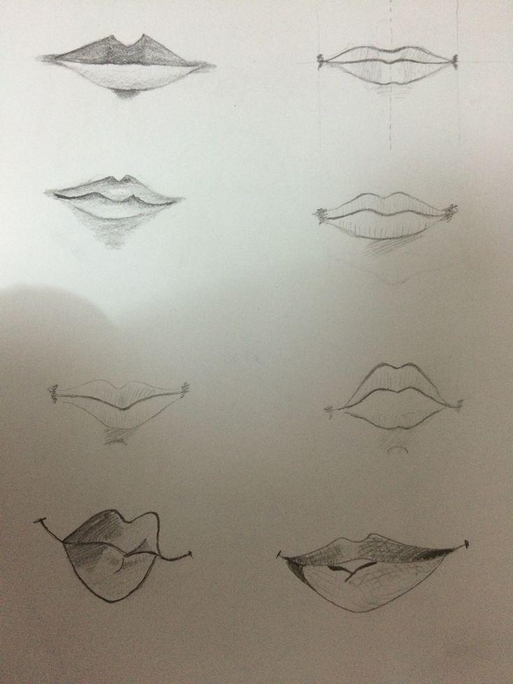 Easy lip drawing
