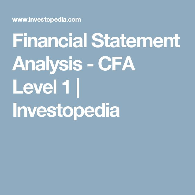 The 25+ best Financial statement analysis ideas on Pinterest - financial statements