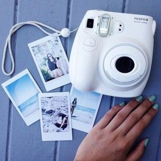 white camera photography technology home accessory belt jewels sweater earphones hair accessory polaroid camera sweet pants cool shirts camera fujifilm instant camera tumblr black fujifilm summer photos instax instax mini 8 cute weheartit picture nail polish holiday gift blouse pictures white camera girl friends photoshoot