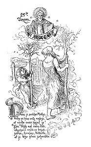 Svatý Matěj, kresba Mikoláše Alše