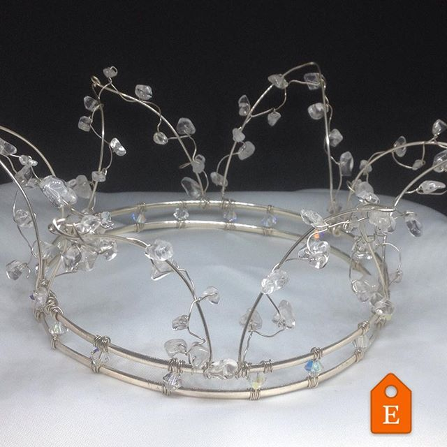 Her Majesty Crown, handcrafted from sterling silver and clear crystal Quartz, now available for purchase at the LoveRocksNZ Etsy store. Complimentary worldwide shipping 📦✈️ #etsy #crystalcrown #weddinghair #etsyseller #bridalcrown #crystallove