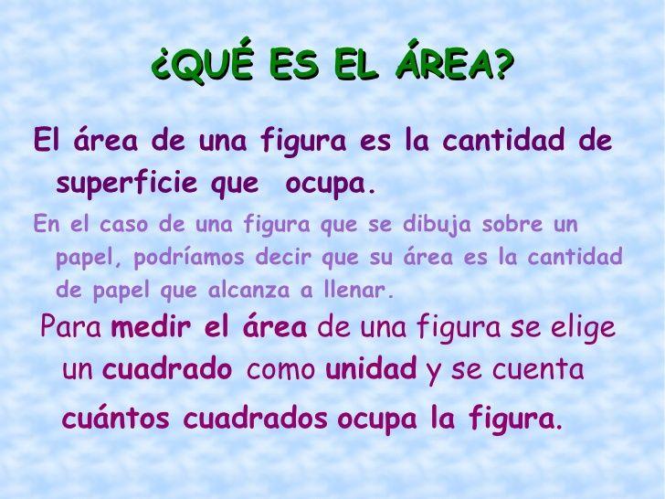 ¿Qué es el área? | ÁREA Y PERÍMETRO DE FIGURAS PLANAS