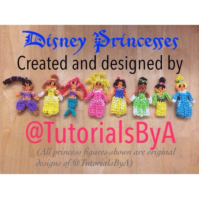 DIY Idea - Rainbow Loom Disney Princesses (she has cute animal charm tutorials too)