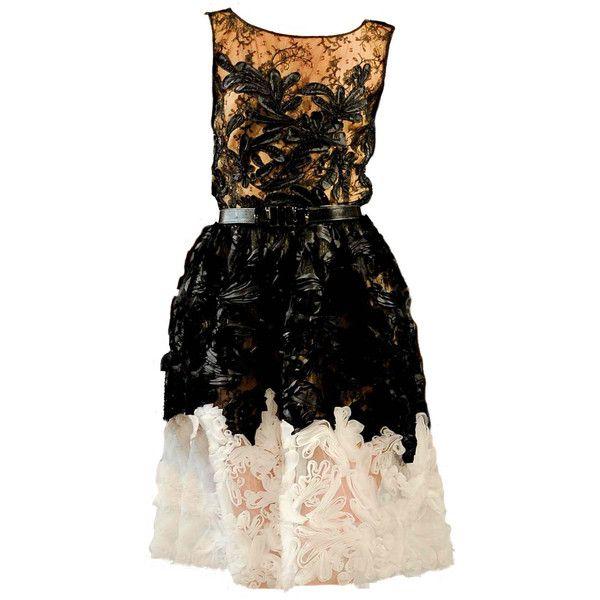 oscar de larenta found on Polyvore featuring dresses, short dresses, edited, vestidos, платья, short black dresses, mini dress, black dress and kohl dresses
