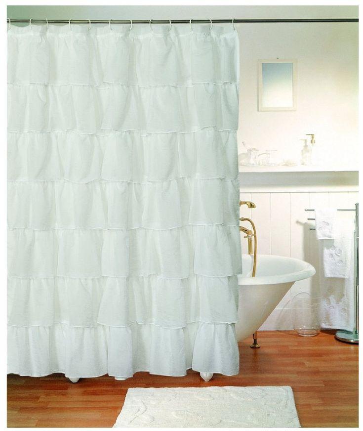 Gypsy Shabby Chic Bouffant Crushed Sheer Shower Curtain