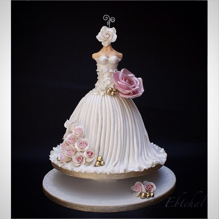 140 best Wedding Dress Cakes images on Pinterest | Petit fours ...