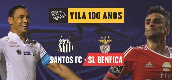 Assistir Jogo Santos x Benfica ao vivo hoje online 08/10/2016 - Amistoso