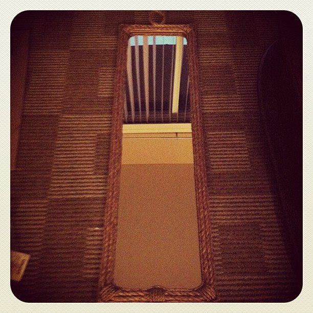 Transform a boring full length mirror with a nautical influence.