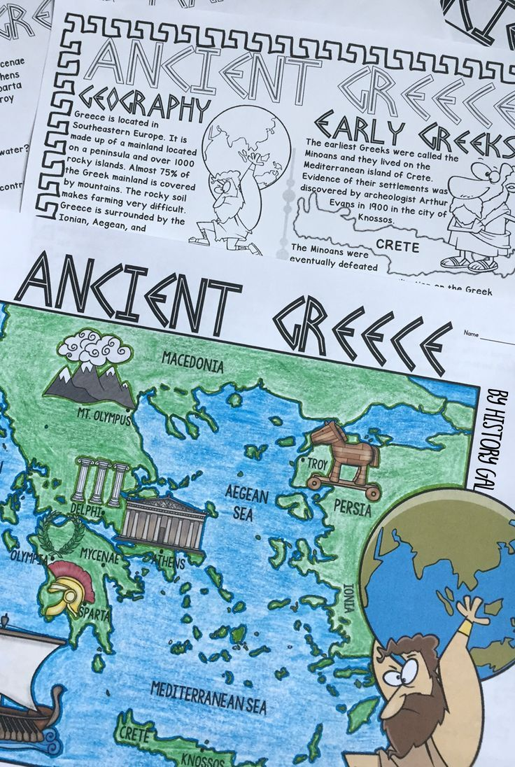 Ancient Greece Map Activity | Teaching World History | Pinterest