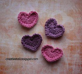 Creative Tail: Hæklede hjerter DIY - valentine :)