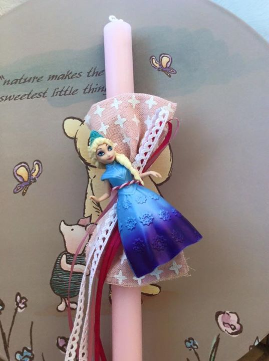 Αρωματική λαμπάδα Έλσα frozen! www.handmadecreationsbydora