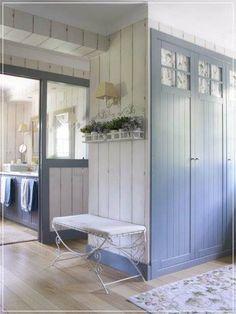 Landleben, Eintrag Foyer, Bad Zeug, Badezimmer, Französisch Haus,  Länderküchen, Bis, Blau, Wohnungen