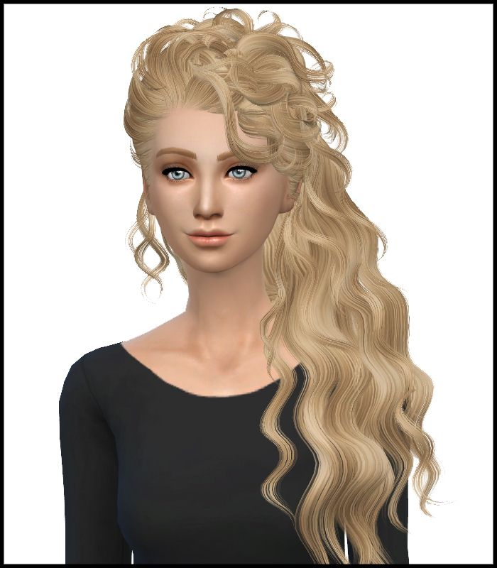 Simista: Newsea`s Disco Hairstyle Converted by David Sims and retextured by Simista • Sims 4 Hairs