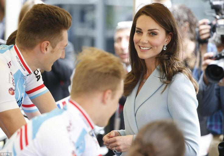 Kate chatted to cyclists who were practicing on exercise bikes during the Bicycling Nation...