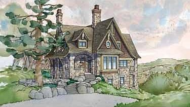 My favorite stone cottage plans. Looks small, but has a lot of room.