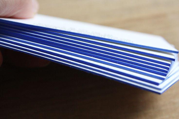 Dodajmy odrobinę niebieskiego! #edgepainting #letterpress #slowprint #businesscard #cottonpaper