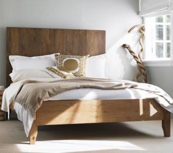 vintage plank bed #bed #wood