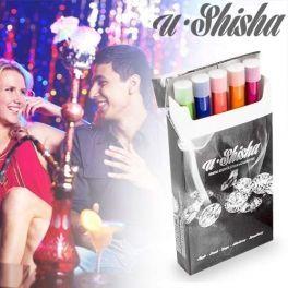 Www.regalosom.com Www.regalosom.com e-Shisha Electrónica.Te presentamos un nuevo gadget que se está convirtiendo en todo un éxito de venta en bares, discotecas y pubs. Se trata de la shisa electrónica, muy parecido al conocido cigarrillo electrónico, pero con aromas típicos de la conocida shisha o hookah. El paquete consta de 5 shishas de diferentes sabores como manzana, melocotón, uva, fresa o arándano.Si eres un amante del Cigarro Electrónico, Bong, Shisha, Cachimba, Hookah o Burbujero…