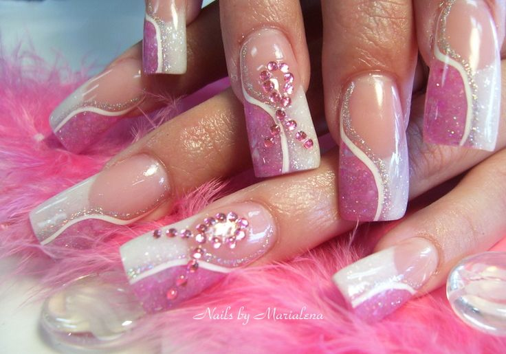 breast cancer nail art design | nail art breast cancer awareness nail art