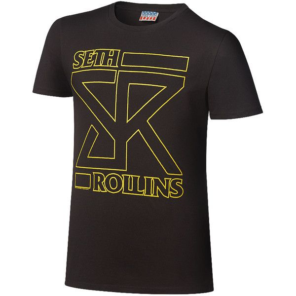 "Seth Rollins ""The Future"" T-Shirt ❤ liked on Polyvore featuring tops, t-shirts, wwe merch, merch, wwe tops, cotton tees, vintage tees, cotton t shirts, vintage style t shirts and vintage t shirts"
