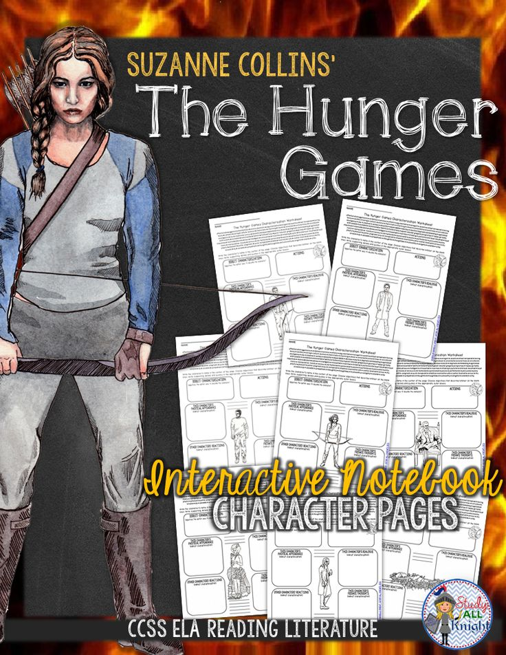 The Hunger Games: Interactive Notebook Character Pages ($)