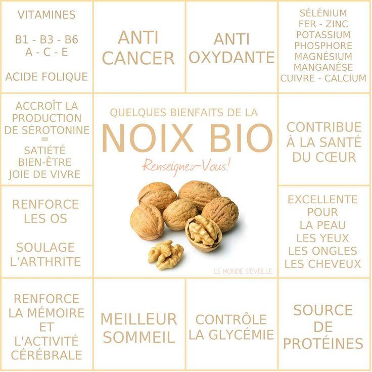 Les Bienfaits des Noix | NOIX Le Monde s'Eveille Grâce à Nous Tous ♥