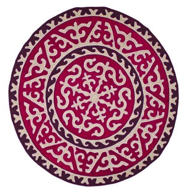 Royally rich Purple Shyrdak rug from Felt. http://www.feltrugs.co.uk/