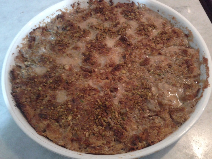 """Oum Ali - Recette égyptienne  - Egyptian """"bread pudding"""" (made by me)"""