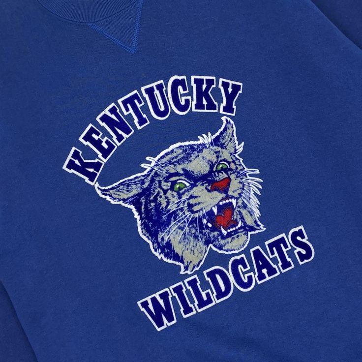 Vintage 90's Kentucky Wildcats Mascot Crewneck - Firstport ...